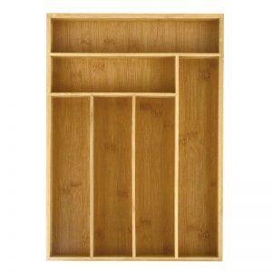 Cubiertero organizador de bamboo para cajón