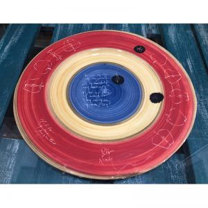 Fuente de ceramica redonda. Vajilla de autor. 36cm.