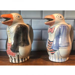 Jarra de vino Pingüino 1 Litro Pintado a Mano Diseño Exclusivo