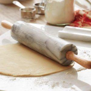 Palo Mármol de Amasar para Estirar Pizza Tartas Masa