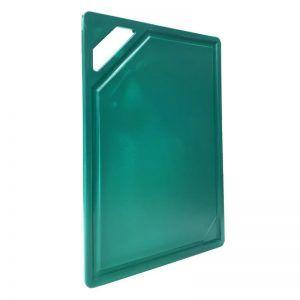 Tabla Gastronómica de Corte Verde en Polipropileno de 33x23cm