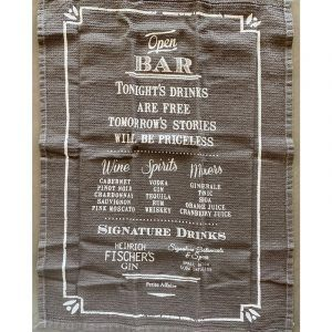 Repasador o Paño de Bar Drinks + Destapador + Posavasos